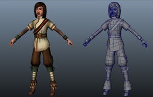 Brew Quest main character wireframe . by Tpose