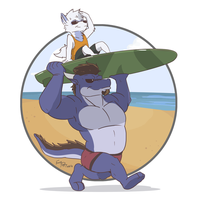 Sand n' Surf by FrostyPuppy