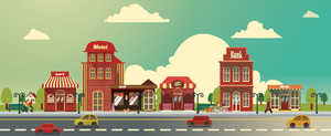 Small Business Building Vector Set by caffeinesoup
