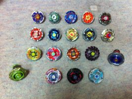 My Beyblade Collection by WhiteMageOfTermina