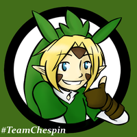 Link is Team Chespin by Ask-Link