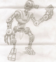 Robot with a floppy by NerdSmile