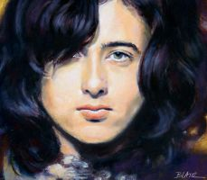 Jimmy Page, color study by Cynthia-Blair