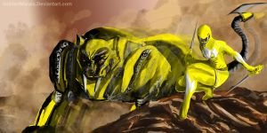 Yellow Power Ranger Fan Art by goldenmurals