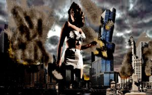 500 ft Woman Attacks by GiantessStudios101
