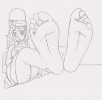 Juvia's Shy Feet by SpriteFeetFetish