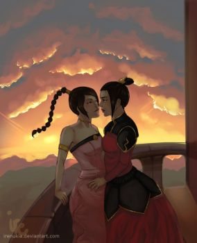 Commission - Azula and Ty Lee by irenukia
