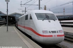 DB ICE 1 at Basel by SwissTrain