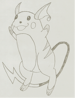 Raichu sketch by gekkostate77