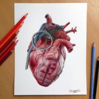 Grenade Heart PRINT! by AtomiccircuS