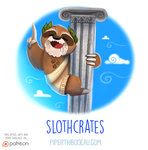 Daily Paint 1540. Slothcrates by Cryptid-Creations