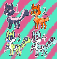 Canine point adopts- REDUCED PRICE by Rolly-Joger-Adopts
