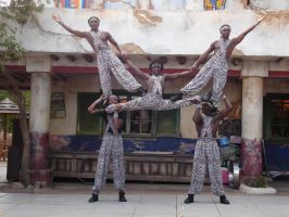 AK Africa Gymnists 5 by WDWParksGal-Stock