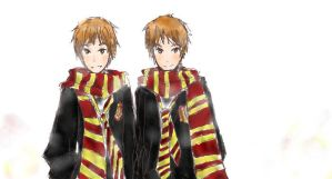 Fred and George by unUnderstandablE