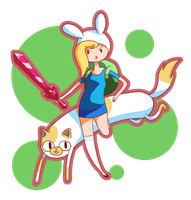 Fionna and Cake by potatoesrawesome1