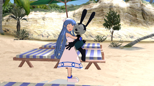 [MMD] Squid Girl hugging Oswald by MarcosLucky96