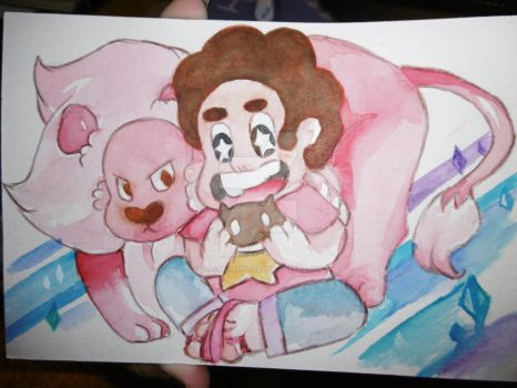 Lion and Steven by BlackNightStar