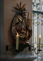 Gilded Jesus Statuette by barefootliam-stock