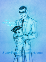 No! He will stay with me! by SunyFan