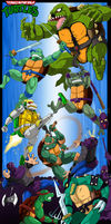 Teenage Mutant Ninja Turtles - Turtle War by Ishida1694