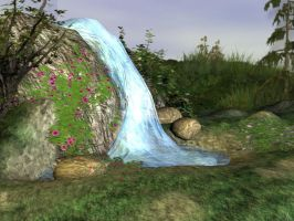 3d Background - Waterfall by Sheona-Stock