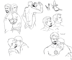 Superhusbands Sketchdump by DrSnipersMagic
