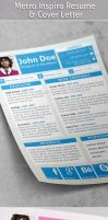 Metro Inspiro Resume and Cover Letter by khaledzz9
