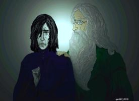 Severus Snape and Dumbledore by rgn2007