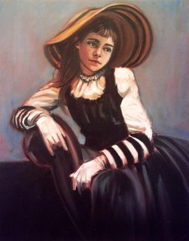 Daily painting: Girl in Stripes by akrathan