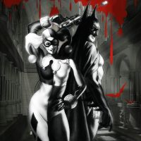 Harley and Batty by HeroPix