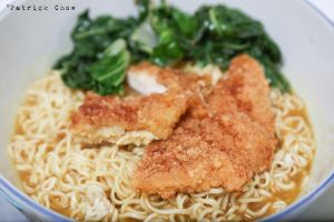 chicken cutlet noodles by patchow