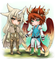 Chibis for KittyTheAngel by shrimpHEBY