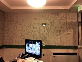 Cartoon Animal Parade Mural I by 0AngelicWings0