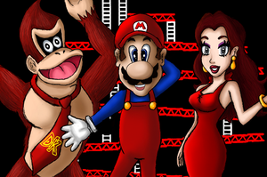 Donkey Kong Mario and Pauline by albertojz356