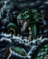 Jormungandr, The World Serpent by laquerhead