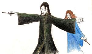 Snape and Granger by princessshiny