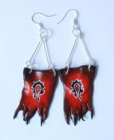 Horde flags earrings by GemDeDude