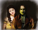 Belle and Rumplestiltskin by kafryne