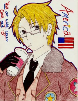 Axis Powers Hetalia : America by NekoChibitalia
