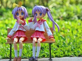 Hiiragi sisters at the park by OvermanXAN