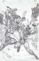 Superman vs. Wolverine by jey2dworld