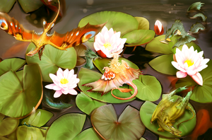 Lotus Pond Gathering by Blue-Hearts