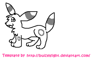 Umbreon Template by buizelfight