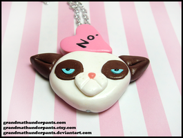 Grumpy Valentine Necklace by GrandmaThunderpants