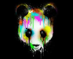 Technicolor Panda by Design-By-Humans