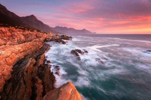 False Bay Spring Sunset by hougaard