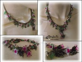 Fairy Statement Necklace in Pinks by JewelleryByBrighid