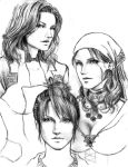 Girls of Bioware by trixdraws