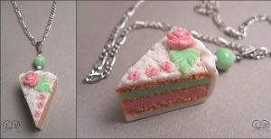 "Pendant ""Cream cake"" by AnielClayWorks"