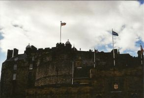 Edinburgh Castle with Flags by mnphoto